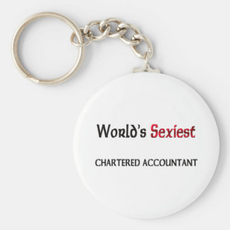 Le comptable privilégiée le plus sexy du monde porte-clé rond