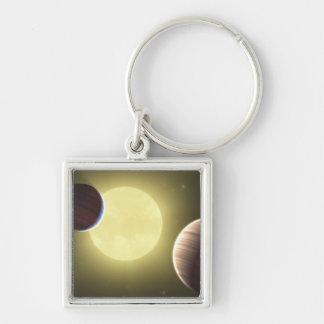Le concept 2 de l'artiste porte-clé carré argenté