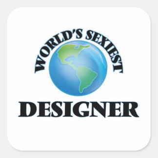 Le concepteur le plus sexy du monde autocollant carré