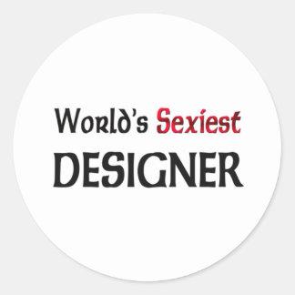 Le concepteur le plus sexy du monde adhésif rond