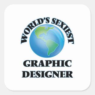 Le concepteur le plus sexy du monde autocollants carrés