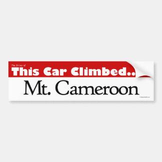 Le conducteur de ce Mt. monté par voiture Cameroun Autocollant De Voiture