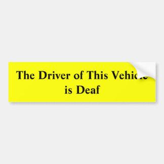 Le conducteur de ce véhicule est adhésif pour autocollant de voiture
