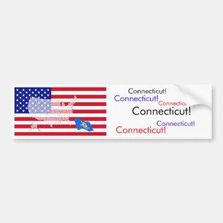 Le Connecticut, Etats-Unis Autocollant Pour Voiture