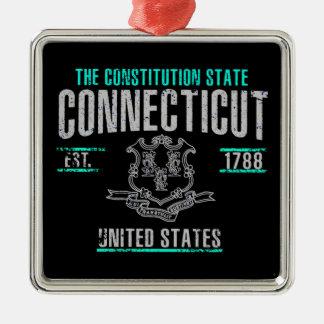Le Connecticut Ornement Carré Argenté