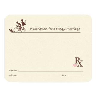 Le conseil carde le livre d'invité de docteur carton d'invitation 10,79 cm x 13,97 cm