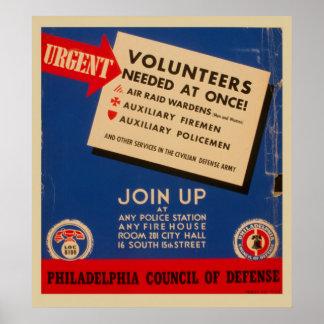 Le Conseil de Philadelphie de la défense joignent Posters