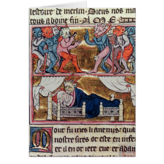 Le Conseil des démons, du 'l'Histoire de Merlin' Cartes