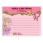 Le conseil doux de bébés de jungle pour la maman c cartes postales