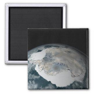 Le continent congelé de l'Antarctique Magnet Carré