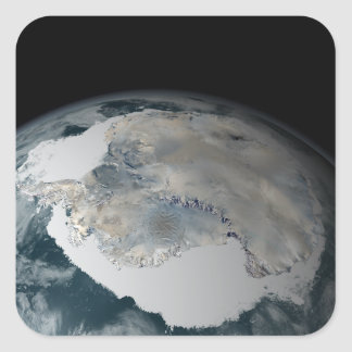 Le continent congelé de l'Antarctique Sticker Carré