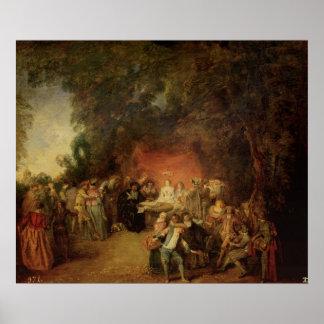 Le contrat de mariage, c.1712-13 posters