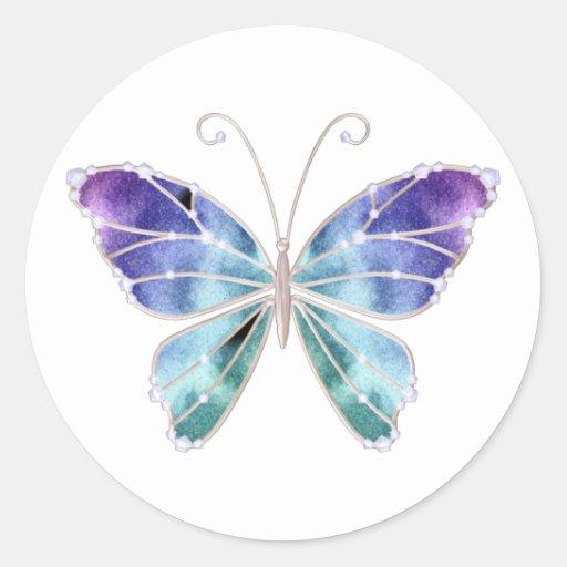 le cool ombrage le papillon d 39 ailes d 39 arc en ciel sticker. Black Bedroom Furniture Sets. Home Design Ideas