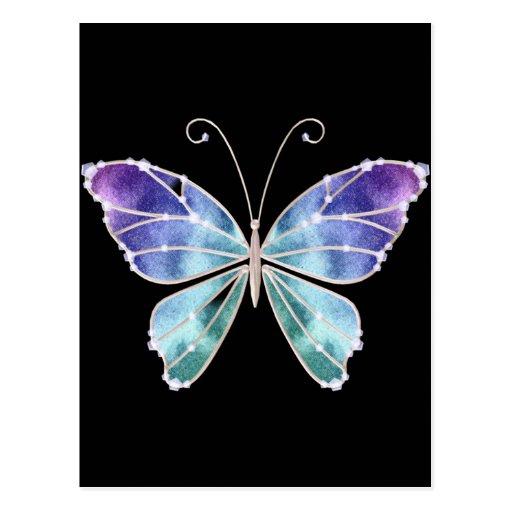 le cool ombrage le papillon d 39 ailes d 39 arc en ciel cartes postales zazzle. Black Bedroom Furniture Sets. Home Design Ideas