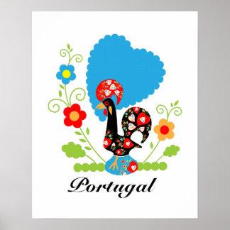 Le coq portugais de la chance posters