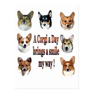Le corgi par jour apporte un sourire 7 carte postale