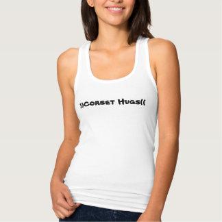 )) Le corset étreint ((réservoir de Racerback de Débardeur
