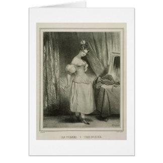 Le corset, gravé par Alfred Léon Lemercier (la Cartes