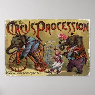 Le cortège de cirque poster