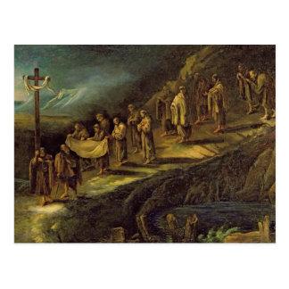 Le cortège du linceul saint cartes postales
