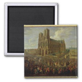 Le cortège du Roi Louis XV Magnets Pour Réfrigérateur