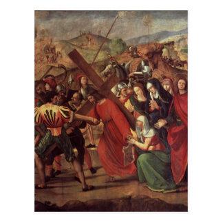 Le cortège vers le calvaire, c.1505 carte postale