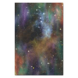 Le cosmos de l'espace de papier de soie de soie