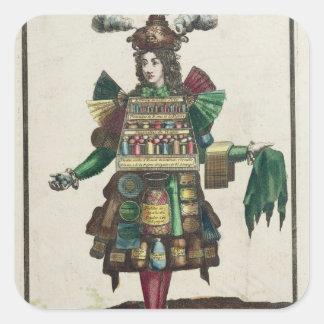 Le costume du parfumeur sticker carré