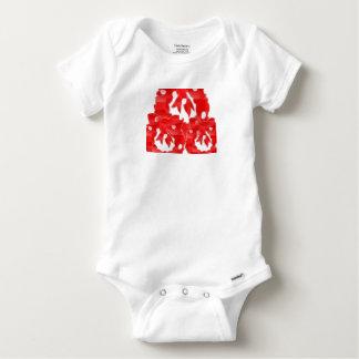 Le coton de bébé aiment le T-shirt blanc de base
