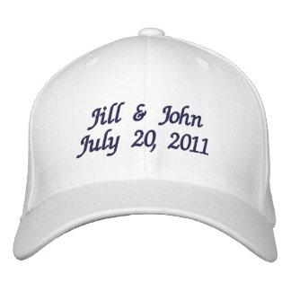 Le couple de date de mariage appelle le casquette casquette brodée
