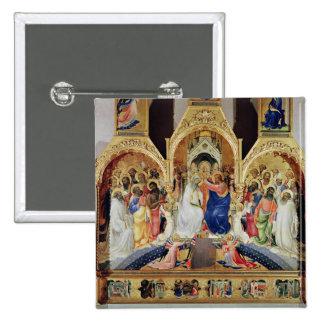 Le couronnement de la Vierge Badge Carré 5 Cm