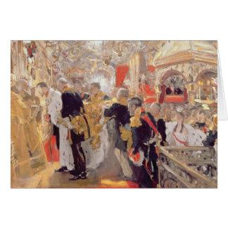Le couronnement de l'empereur Nicholas II Carte De Vœux