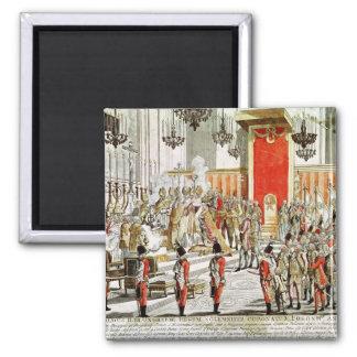 Le couronnement de Leopold II à Bratislava Magnet Carré
