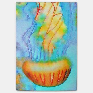 Le Courrier-it® d'aquarelle de méduses note 4 x 3