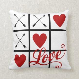 Coussin Love, Rouge et Blanc