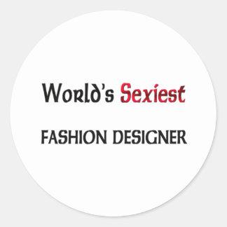 Le couturier le plus sexy du monde autocollants ronds