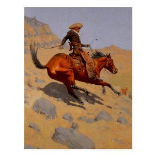 Le cowboy carte postale