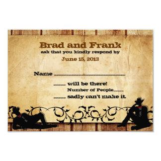 Le cowboy toilette les cartes les épousant gaies carton d'invitation 8,89 cm x 12,70 cm