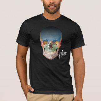 Le crâne antérieur du Netter sur un T-shirt noir