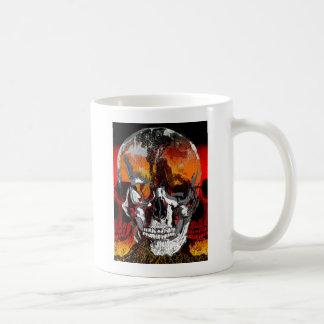 Le crâne chronomètre trois mug blanc