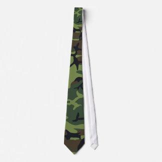Le cravate des hommes soyeux de Camo de chasseur c