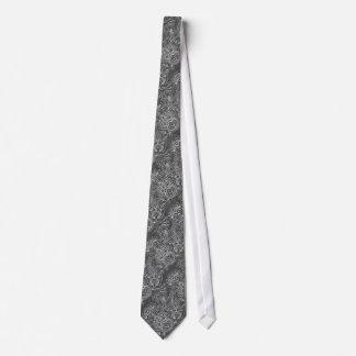 Le cravate des hommes soyeux floraux de charbon de