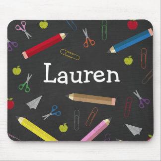Le crayon d'arc-en-ciel d'Apple de tableau Tapis De Souris