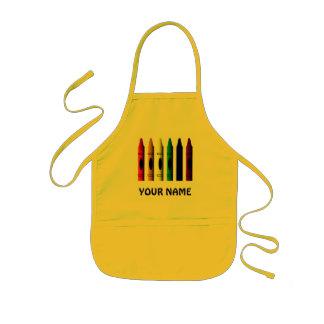 Le crayon nommé de crayons badine le tablier fait