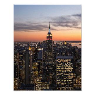 Le crépuscule tombe sur Manhattan - copie de photo