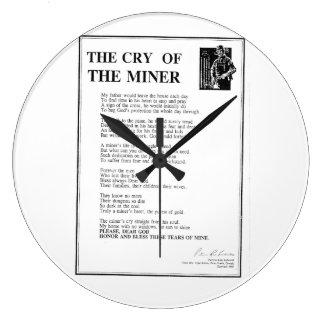 Le cri du mineur grande horloge ronde