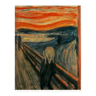Le cri perçant - Edvard Munch 1893 Cartes Postales