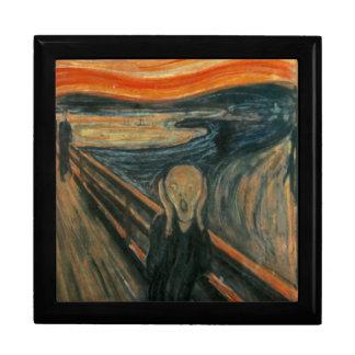 Le cri perçant - Edvard Munch Grande Boîte À Bijoux Carrée