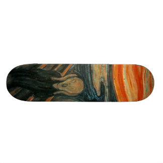 Le cri perçant - Edvard Munch Skateboards Personnalisés
