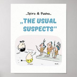 Le crime de Spiro et de Pusho cite l'affiche 8x10 Poster